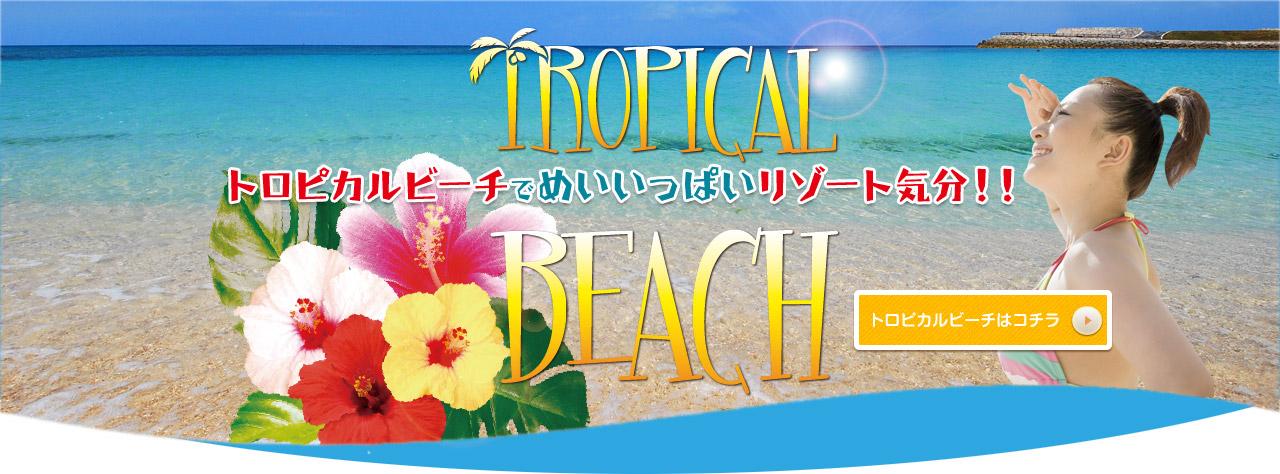 トロピカルビーチ|施設のご案内